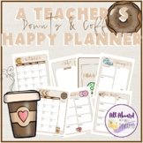 A Teacher's Happy Planner Donuts & Coffee Theme
