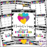 A Teacher's Happy Planner Stripes and Brights