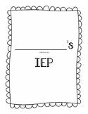 A Teacher's IEP Binder Organization Set for an IEP Meeting