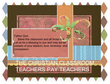 A Teachers Classroom Decorative Prayer Sign
