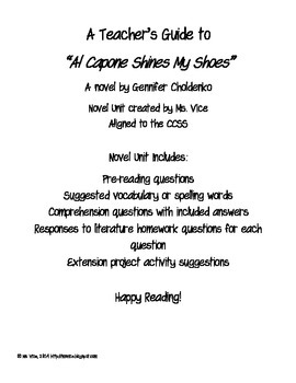 A Teacher's Guide to Al Capone Shines My Shoes