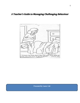 A Teacher's Guide to Challenging Behavior