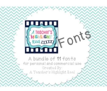 A Teacher's Highlight Reel Fonts
