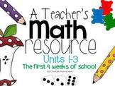 A Teacher's Math Resource Units 1-3 Bundle