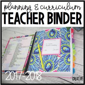 Editable Teacher Binder with FREE Updates - Teacher Planner & Organizer