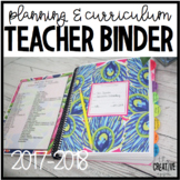 Teacher Planner & Curriculum Binder: 2016-2017