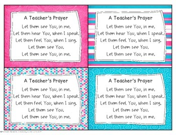 A Teacher's Prayer - Let Them See You Lyrics