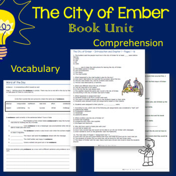 The City of Ember Novel Study: Digital + Printable Book Unit