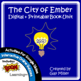 The City of Ember Novel Study: vocabulary, comprehension,