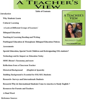 A Teacher's View. Education in America