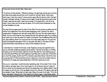"""""""A Telephone Call"""" by Dorothy Parker: Annotation Organizer"""