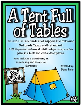 A Tent Full of Tables (TEKS 3.5E)