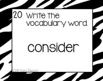 Test Prep Vocabulary Task Cards