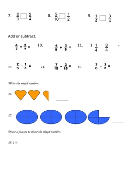 A Test on Fractions