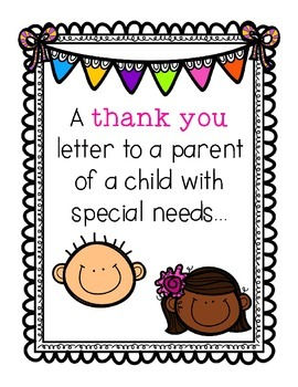 A Thank You Letter to a Parent of a Child with Special Needs
