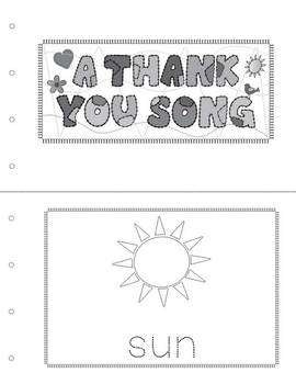 Earth Day:A Thank You Song with Activities