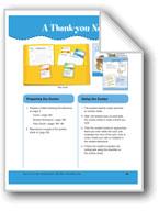 A Thank-you Note (File Folder Center)