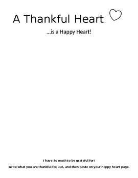 A Thankful Heart Activity
