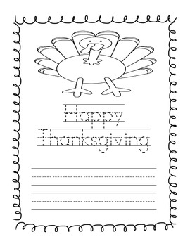 "A Thanksgiving Book: ""I Am Thankful for..."" Student Writing Project"