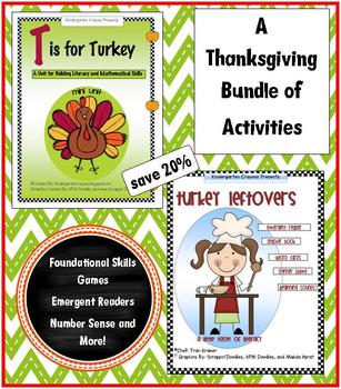 A Thanksgiving Bundle of Math and Literacy Activities