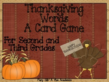 Second / Third Grade Thanksgiving Game  -  Learning facts can be fun !