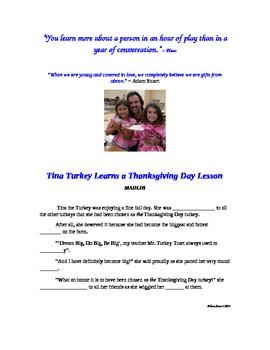 A Language Arts MADLIB with Tina Turkey