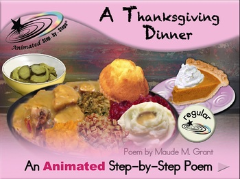 A Thanksgiving Dinner - Animated Step-by-Step Poem - Regular