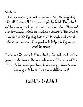 A Thanksgiving Feast Math Activity
