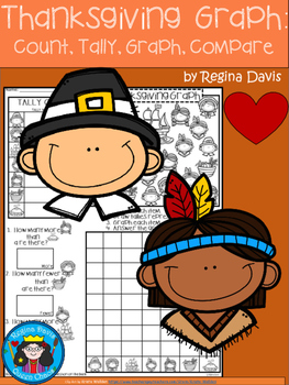 A+ Thanksgiving Graph: Count, Tally, Graph, and Compare