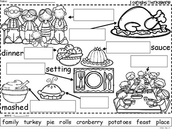 A+ Thanksgiving Labels: Labeling The Holiday