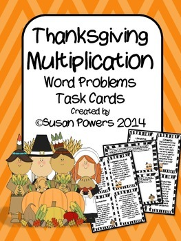 A Thanksgiving Multiplication Word Problems Math Centers Activity