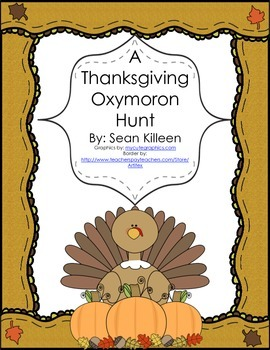 A Thanksgiving Oxymoron Hunt