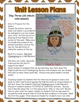 A Thanksgiving Reading unit: Common Core Correlated