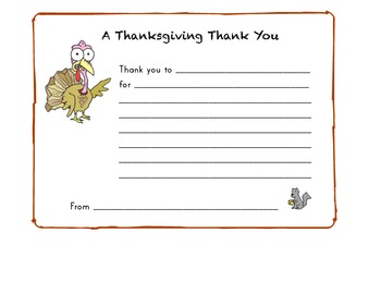 A Thanksgiving Thank You Certificate