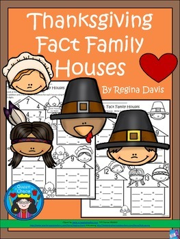 A+ Thanksgiving: Fact Family Houses