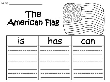 A+ The American Flag: Graphic Organizers