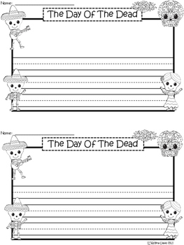 A+ The Day Of The Dead ... Writing Paper