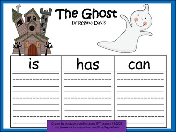 A+ The Ghost: Graphic Organizers