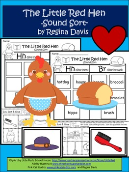 A+ The Little Red Hen: Sound Sort