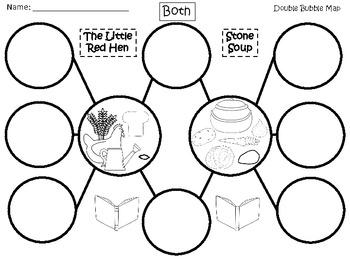 A+ The Little Red Hen & Stone Soup Double Bubble Maps