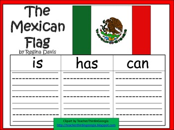 A+  The Mexican Flag ... Three Graphic Organizers