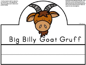A+ The Three Billy Goats Gruff Character Hats