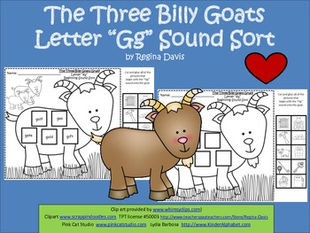 A+ The Three Billy Goats Letter Gg Sort