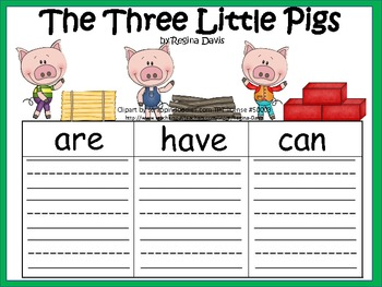 A+ The Three Little Pigs: Graphic Organizers