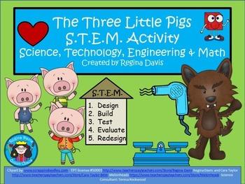 STEM Science Technology Engineering  Math Fairytales The Three