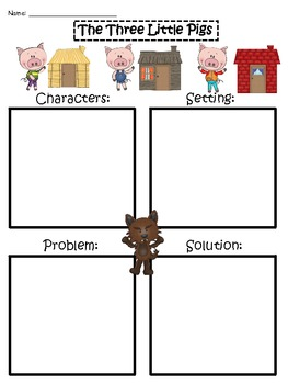 A+ The Three Little Pigs: Story Maps