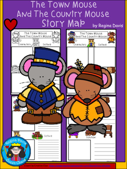 A+ The Town Mouse And The Country Mouse: Story Maps