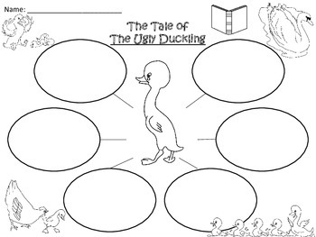 A+  The Ugly Duckling ... Three Graphic Organizers