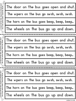 A+ The Wheels On The Bus Sequencing