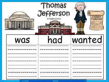 A+ Thomas Jefferson... Three Graphic Organizers
